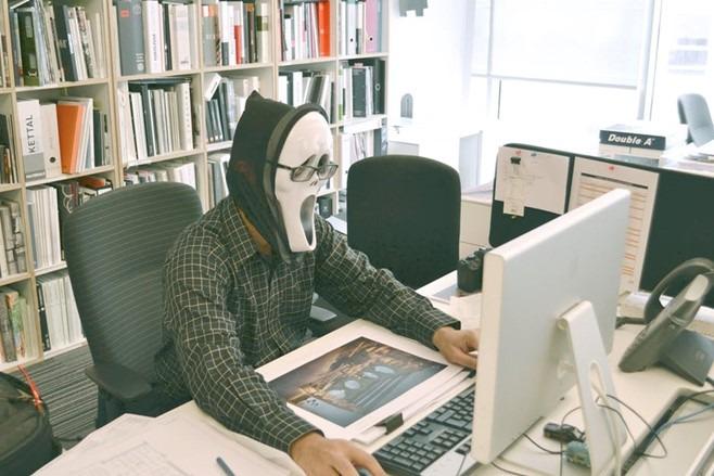 Illustrasjon av en hacker.